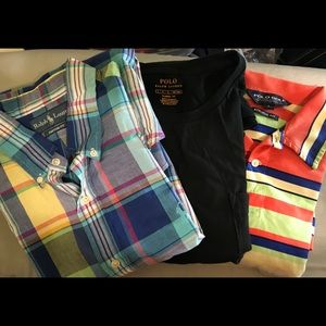Lot of three Ralph Lauren Polo Shirts Size Large